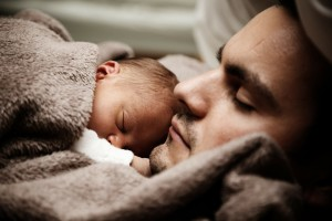 Father and baby: In Poland, children are mostly cared for by women