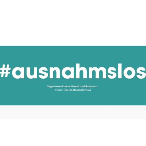 "The logo of the ""#ausnahmslos"" initiative"