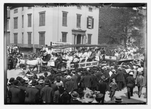 Labor Day Parade, float of Women's Trade Union League, New York.