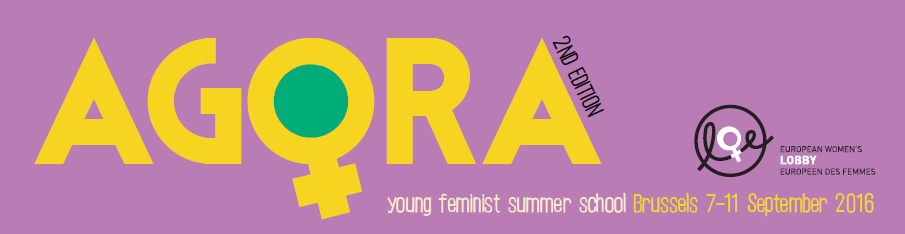 Logo of the 2016 AGORA young feminist summer school
