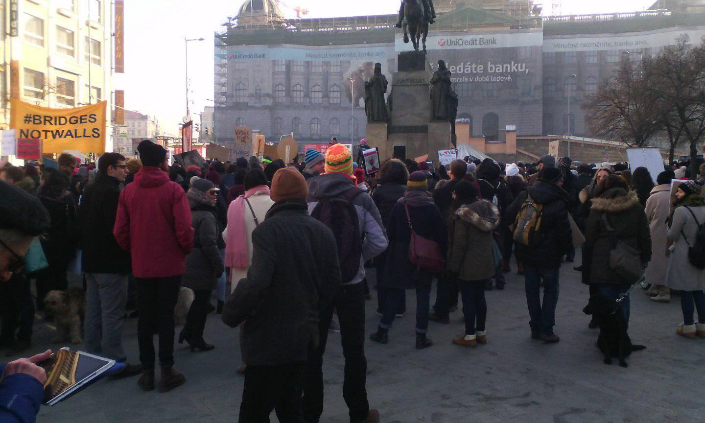 Women's march Prague
