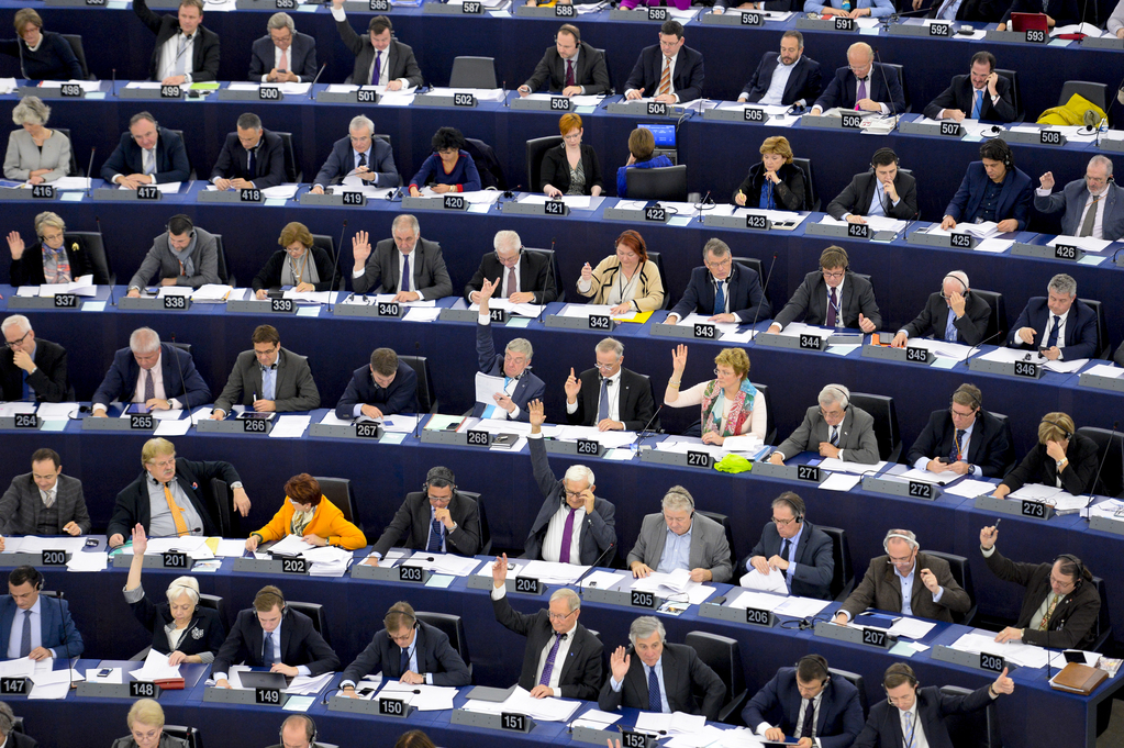MEPs at a plenary session