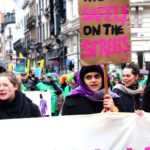 Me, Isma, proudly protesting on the day for International Women's Day, March 2020. Photo by Young Feminist Europe