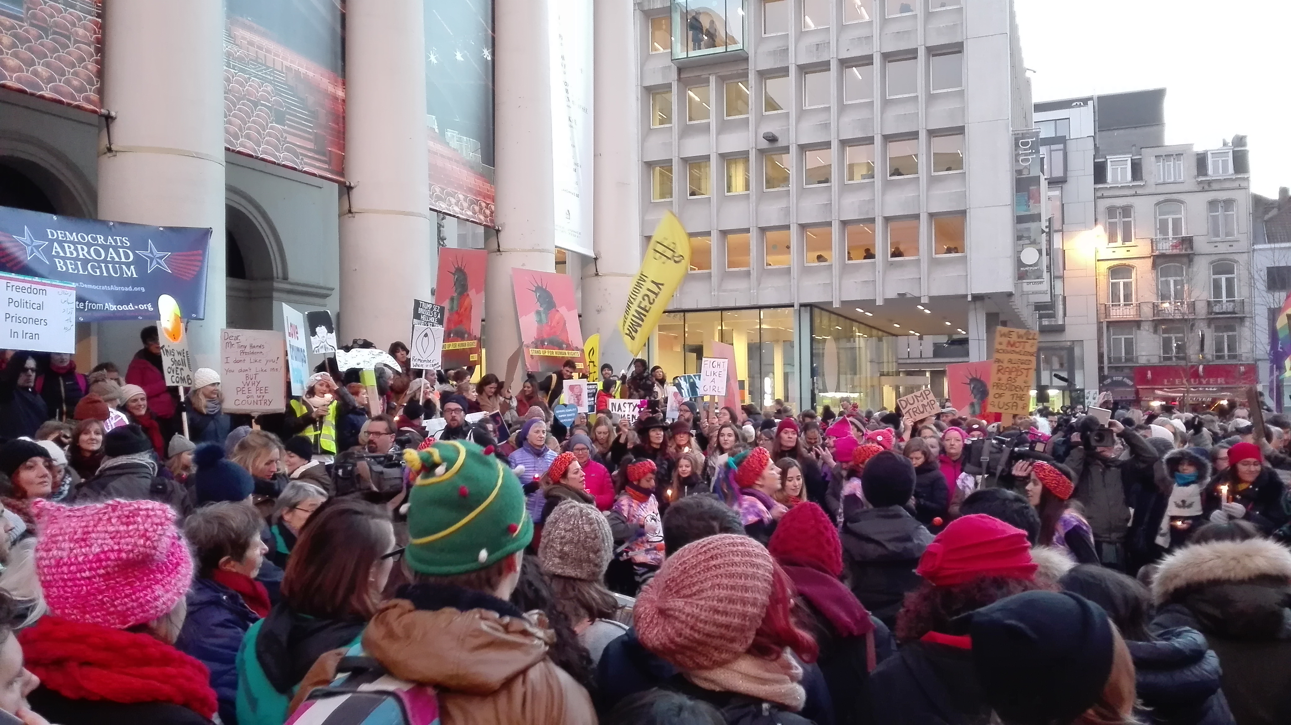 Women's march Brussels